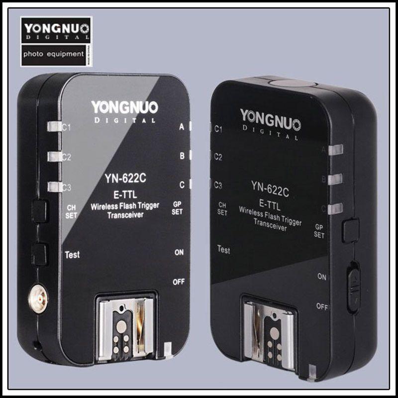 YONGNUO yn622c YN 622 yn-622 E-TTL беспроводной триггер флэш трансивер для Canon 500D 600D 700D 1300d 1d3 5D3 вспышка света