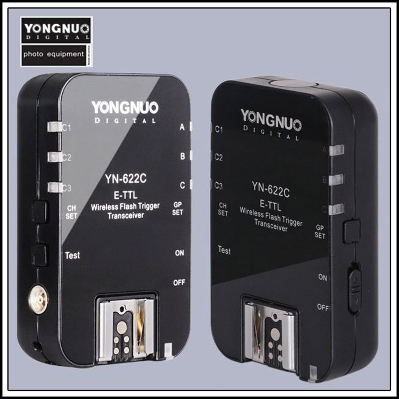 Yongnuo YN622c YN 622 YN-622 E-TTL déclencheur sans fil émetteur-récepteur pour canon 500d 600d 700d 1300d 1d3 5d3 flash de caméra