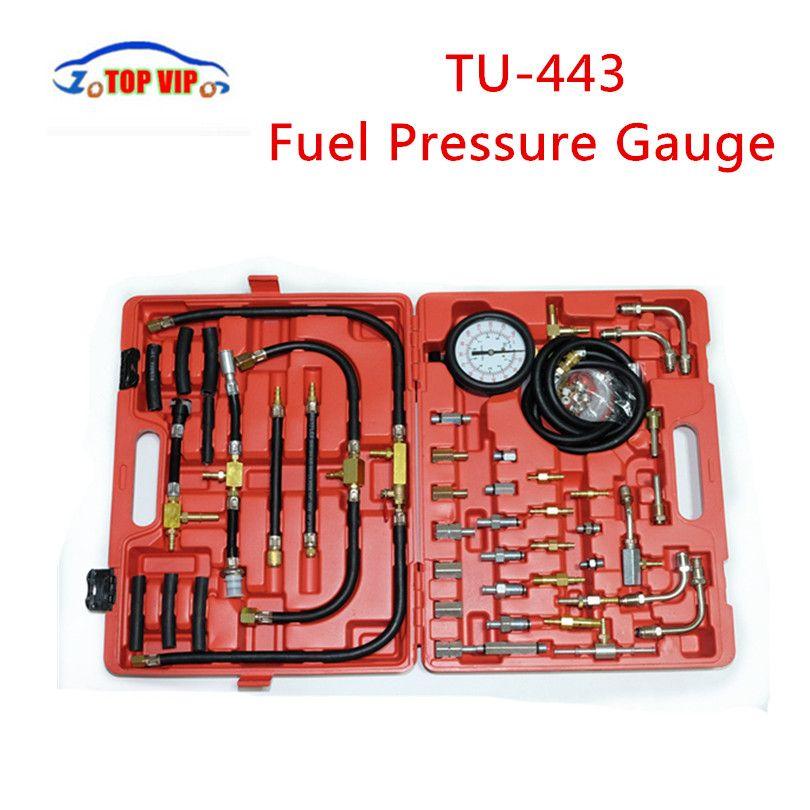2018 Best Price TU-443 Fuel Pressure Gauge Engine Testing Kit TU443 Fuel Injection Pump Tester TU 443with Retail Carry Case