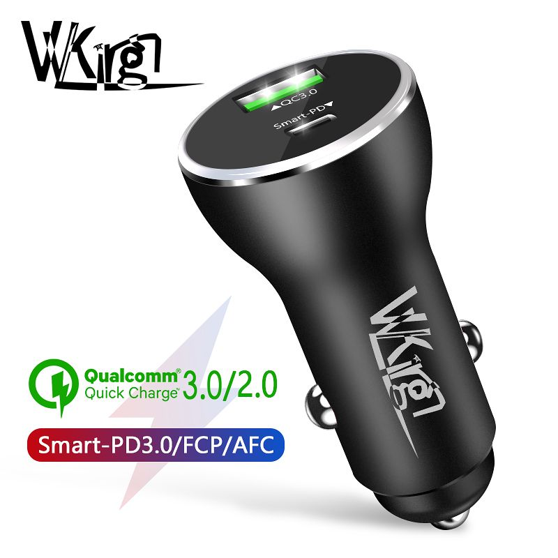 VVKing 36W Dual USB Quick Charge 3.0 Car Charger For iPhone Samsung Huawei Xiaomi USB Type-C PD Fast Charging Car Phone Charger