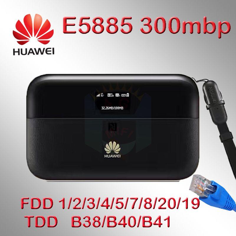 Huawei e5885 router 4g rj45 cat6 300 Mbps 3g 4g wifi hotspot tasche wi-fi sim karte Ethernet 6400 mah E5885Ls-93a Mobile WiFi PRO