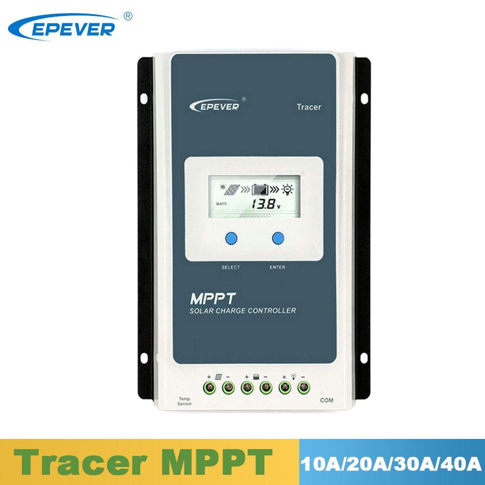 EPever Solar MPPT Ladegerät Controller LCD 10A 20A 30A 40A Solar Regler 12V 24V für Blei Säure Gel dichtung Flut Lithium-Batterien