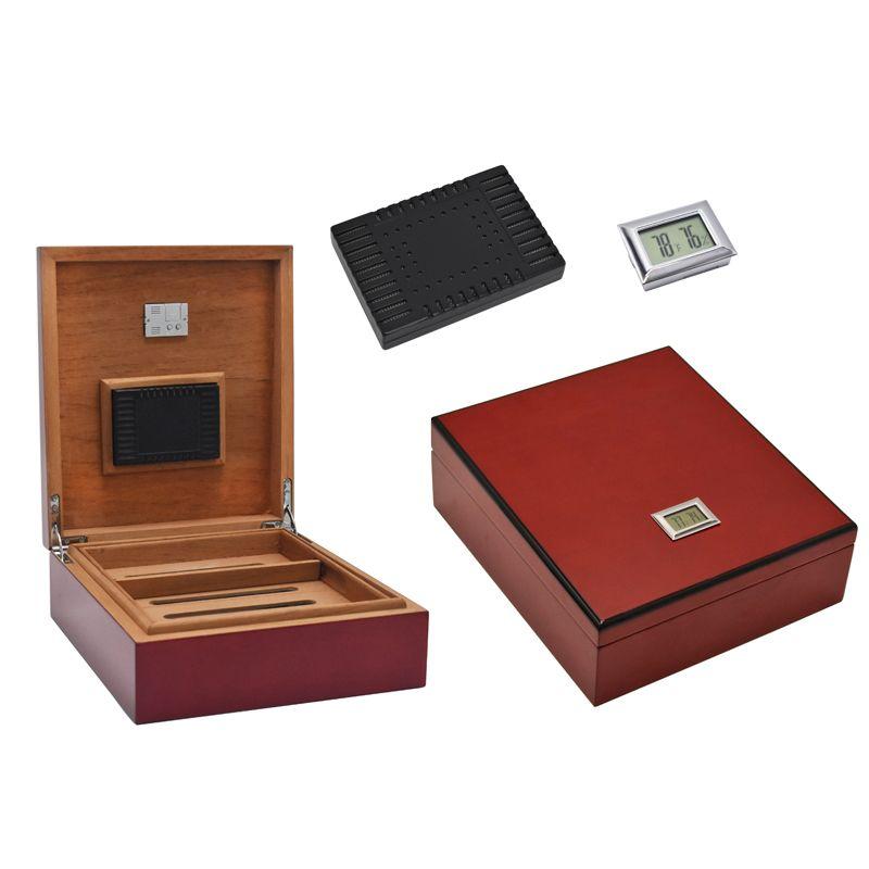 Digital Humidor Office & Home Solid Wood Cigar Case multiple lacquer finish Cigar moisture box humidity adjustable Cigar Box