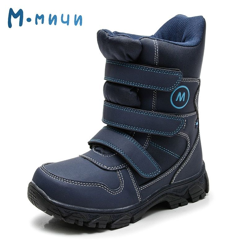 MMNUN 2017 New Collection Children Boots Warm Winter Boots for Children High Quality Anti-slip Kids Shoes for Boys Size 32-37