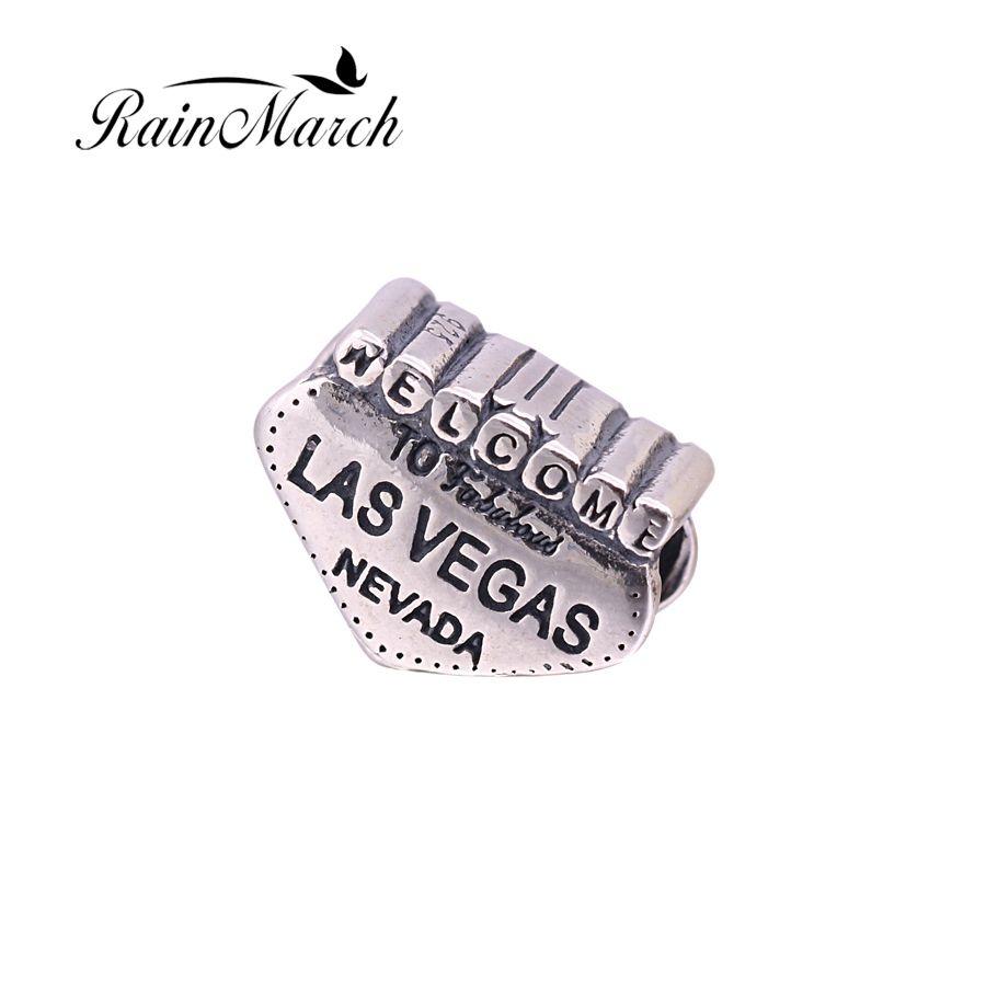 Fit Pandora pulseras de Perlas Originales de Las Vegas Nevada 925 plata esterlina encantos de la Joyería de DIY Que Hace