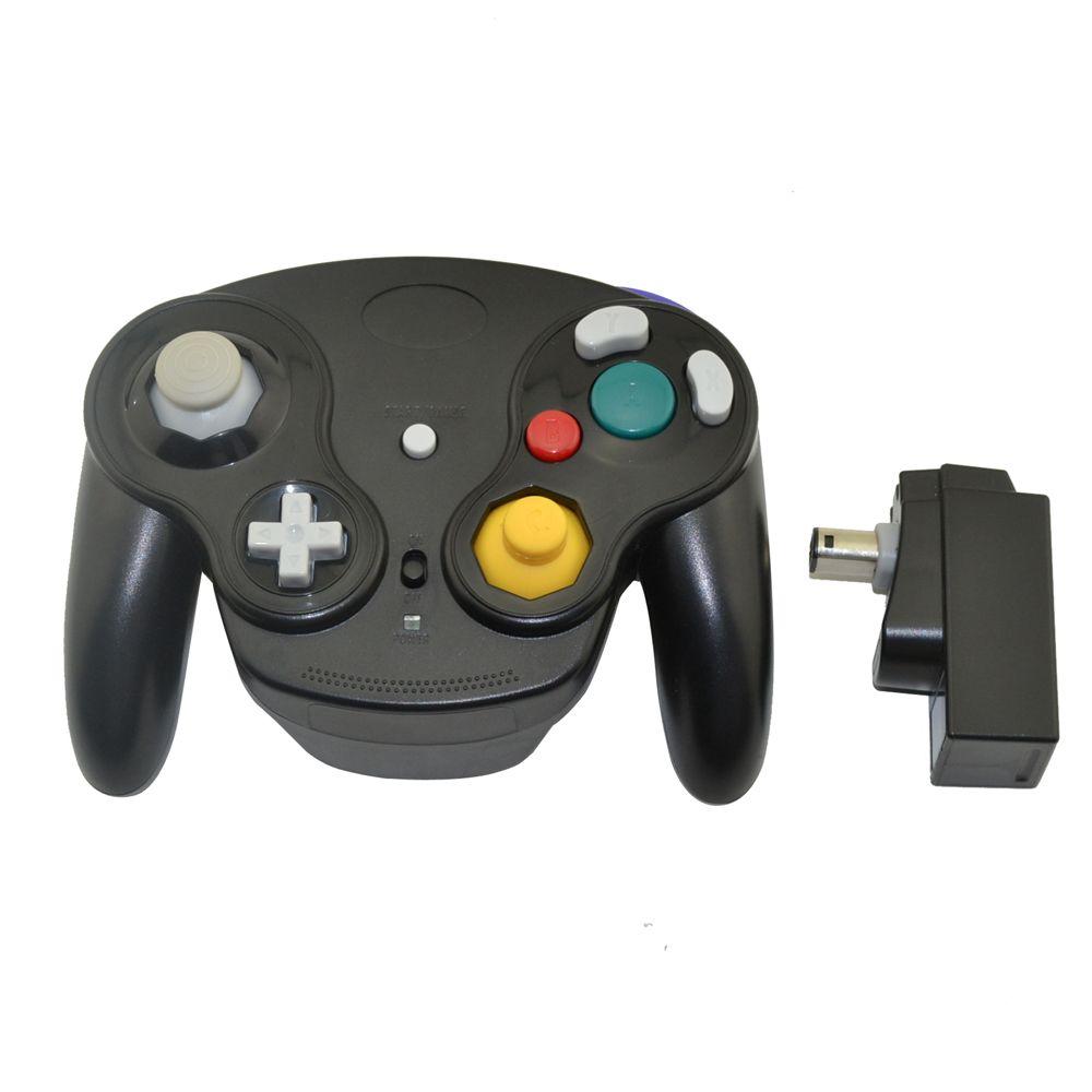 2.4 GHz manette de jeu sans fil manette de jeu pour nintendo N GC gamecube pour Wii Noir
