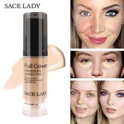 SACE LADY Full Cover 5 Colors Liquid Concealer Makeup 6ml Eye Dark Circles Cream Face Corrector Waterproof Make Up Base Cosmetic