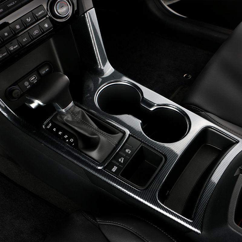 Fibre de carbone voiture intérieur eau support de verre cadre couverture garniture décoration autocollant pour Kia Sportage 4 QL 2016 2017 2018 accessoires