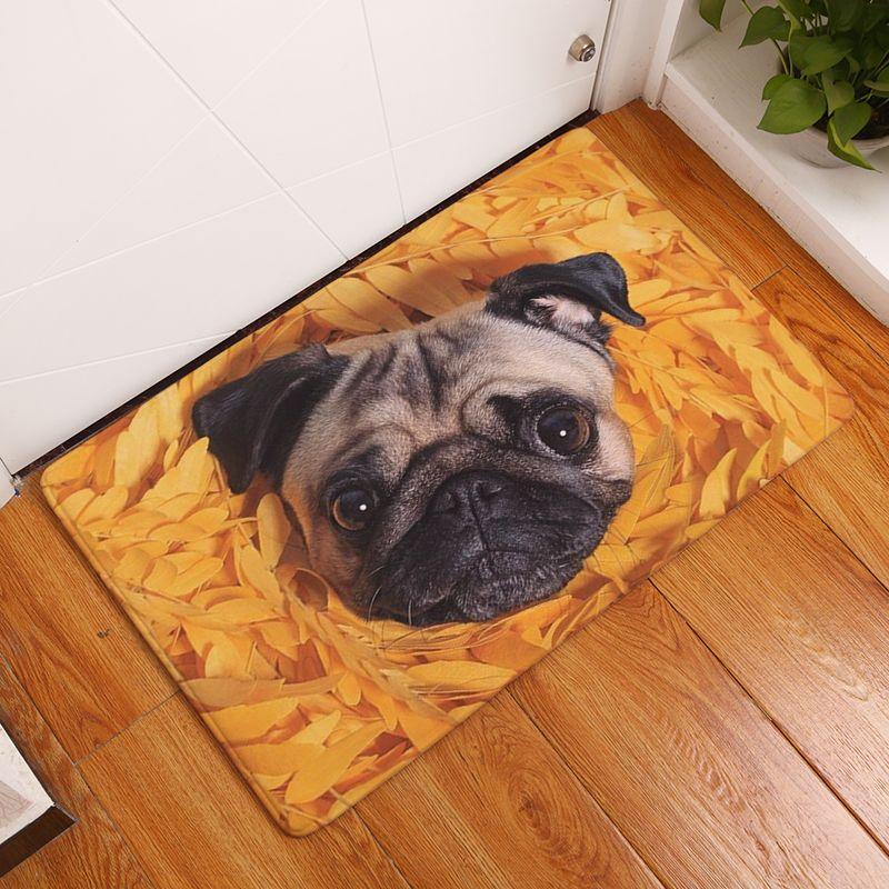2017 nouveau tapis de sol célèbre nourriture Bago imprimé salle de bain cuisine tapis paillassons chat tapis de sol pour salon anti-dérapant Tapete