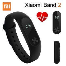 Original Xiao mi banda 2 pulsera inteligente pulsera mi banda 2 Fitness Tracker Android pulsera Smartband Monitor de ritmo cardíaco