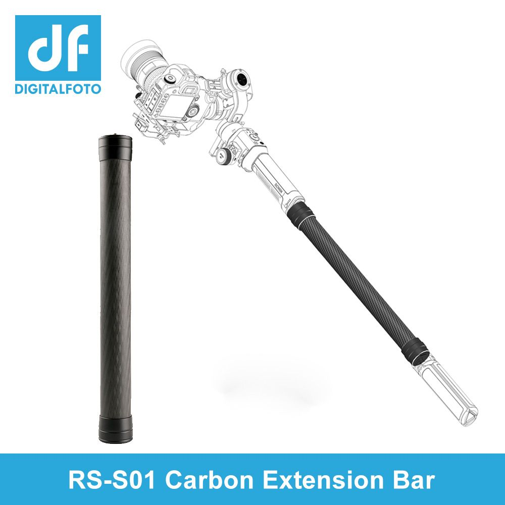 Carbon fiber extension stick For DJI Ronin S/M WEEBILL LAB AK2000 AK4000 Moza AirX Smooth4 3 Axis Gimbal stabilizer rod bars