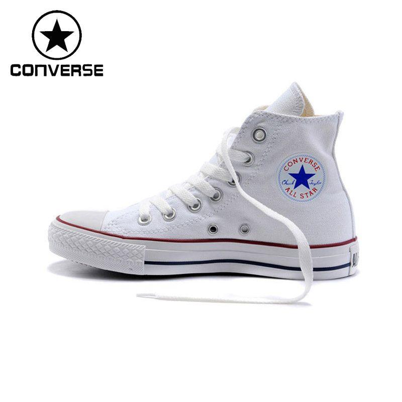 Новое поступление первоначально Converse классический унисекс, парусиновая Обувь для скейтбординга с высоким берцем анти-скользкие sneaksers Classique