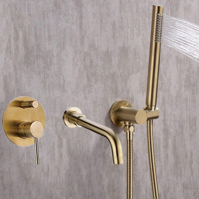 Ensemble de douche pour baignoire mélangeur vanne 2 fonction mélangeur de remplissage de baignoire robinets de salle de bain chaude et froide robinet de douche bec de bain douche