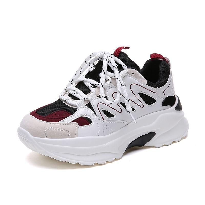 2018 New women chunky sneakers platform old dad shoes harajuku joker casual sneakers plus plush keep warm fur sneakers