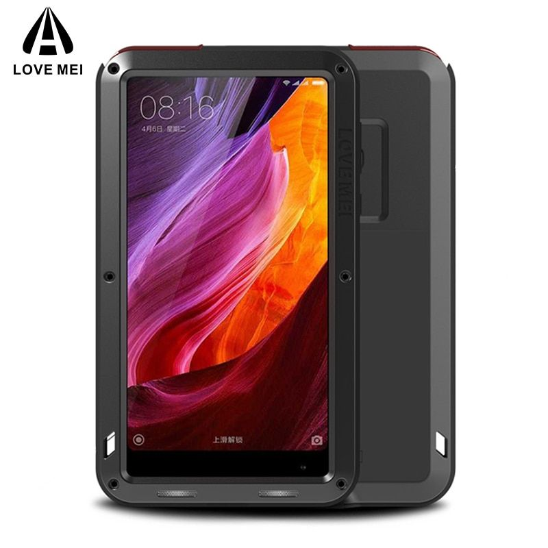 LOVE MEI Aluminum Metal Case For Xiaomi Mi Mix Cover Powerful Armor Shockproof Life Waterproof Case For Xiaomi Mi Mix Capa Coque