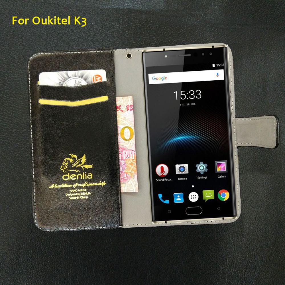 TOP New! For Oukitel K3 Case 5 Colors Luxury Leather Case Exclusive Phone Cover Credit Card Holder Wallet+Tracking