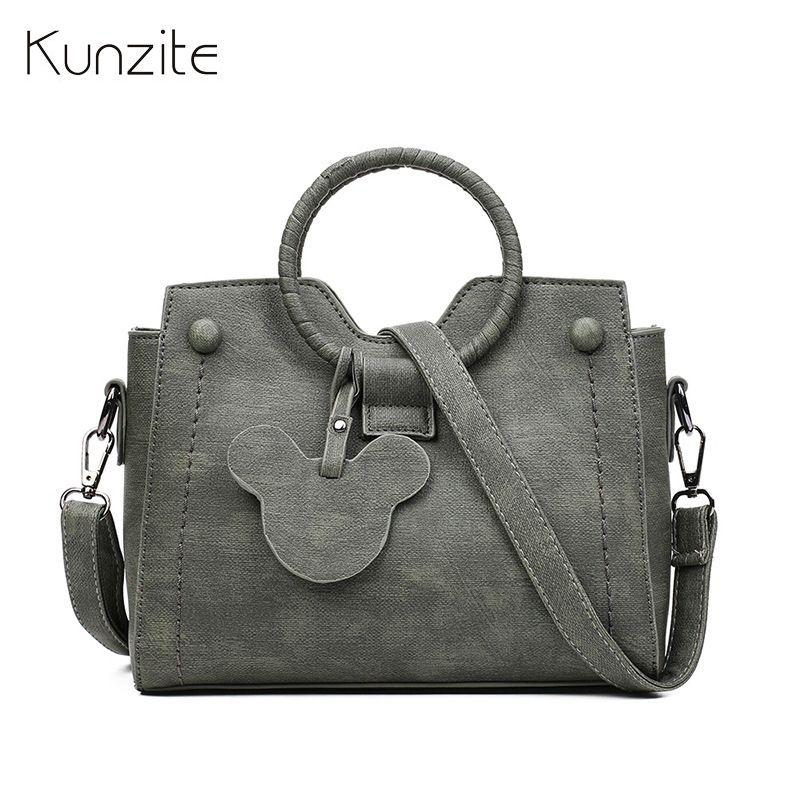 Kunzite Brand New 2018 Women Handbags Sac A Main <font><b>Crossbody</b></font> Bags Designer Handbags High Quality PU Leather Flap Bolsos Mujer Hot
