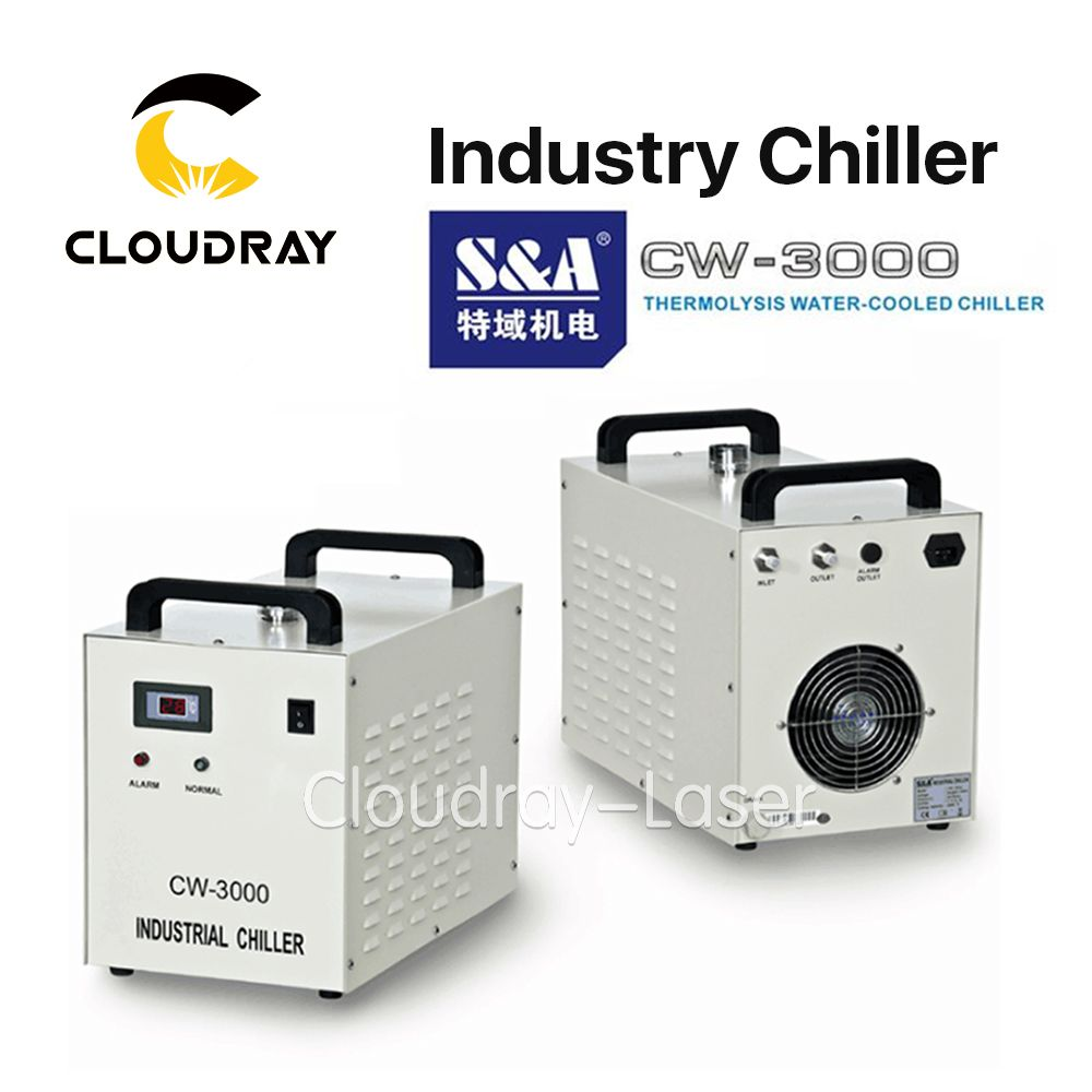Cloudray S&A CW3000 Industrial Water Chiller for CO2 Laser Engraving Cutting Machine Cooling 60W 80W Laser Tube DG110V AG220V