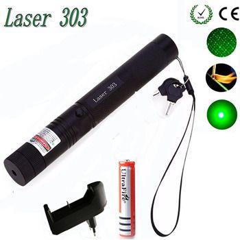 Высокая мощность Зеленая лазерная указка Охота Зеленая Точка Тактический 532 нм 5 МВт Лазеры 303 лазер ручка горящая спичка горящий лазер
