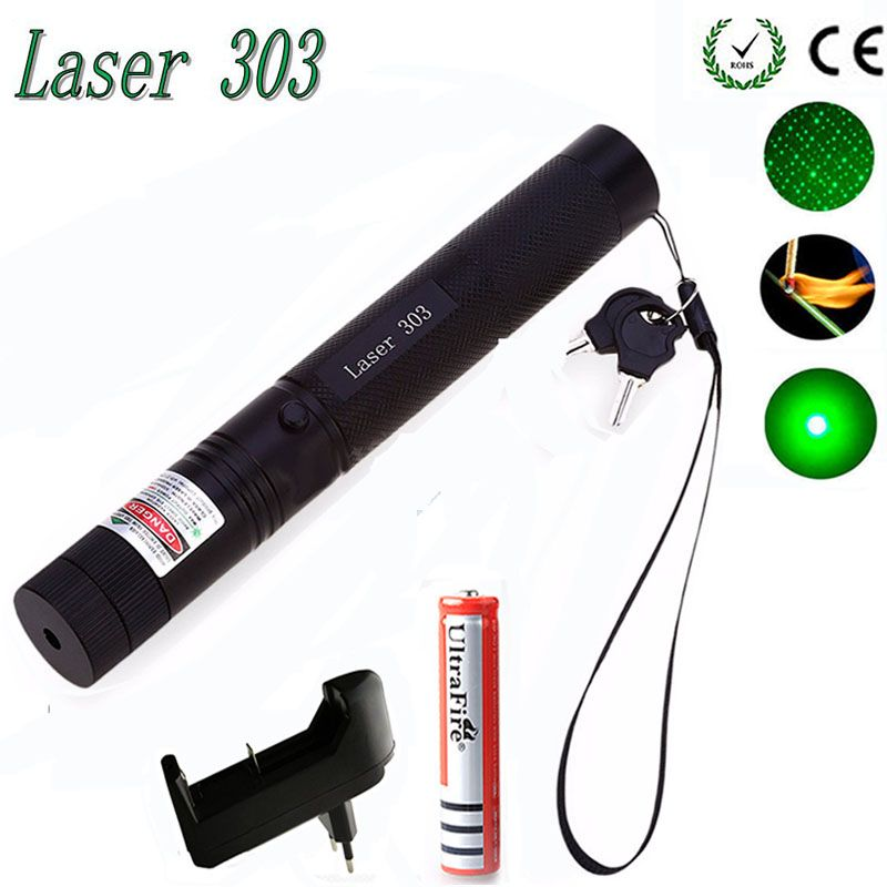 Pointeur laser vert haute puissance chasse point vert tactique 532 nm 5 mW lasers 303 laser tête de laser brûlant Match laser brûlant
