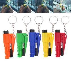 5 colors Safety Glass Window Breaking Hammer Emergency Escape Rescue Tool Keychain Car Window Broken Emergency Glass Breaker