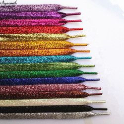 Shiny Gold and Silver Colorful Bright Shoelaces 19 Colors 110 cm Sneaker Sport Shoes Laces Bootlaces Shoe laces Strings