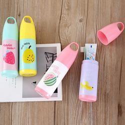 Viaje portátil lindo caso Pasta de dientes caja frutas de dibujos animados cepillo de dientes titular caja de almacenamiento
