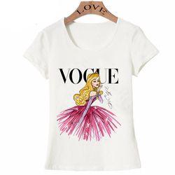 VOGUE punk princesse imprimer T Shirt 2016 d'été de mode femmes t-shirt drôle Harajuku à manches courtes casual t-shirts lovrly tops