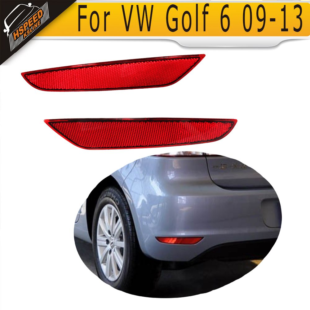 ABS Rear Bumper Reflector Lamps Auto Car-Styling Rear Light for Volkswagen VW Golf 6 2009-2013