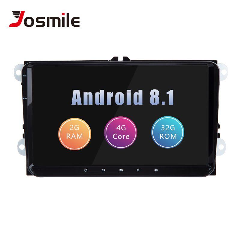 2din Android 8.1 GPS AutoRadio Für Skoda Octavia 2 Passat B6 VW T5 Polo Amarok Volkswagen Superb 3 Sitz Leon Golf 5 6 Multimedia