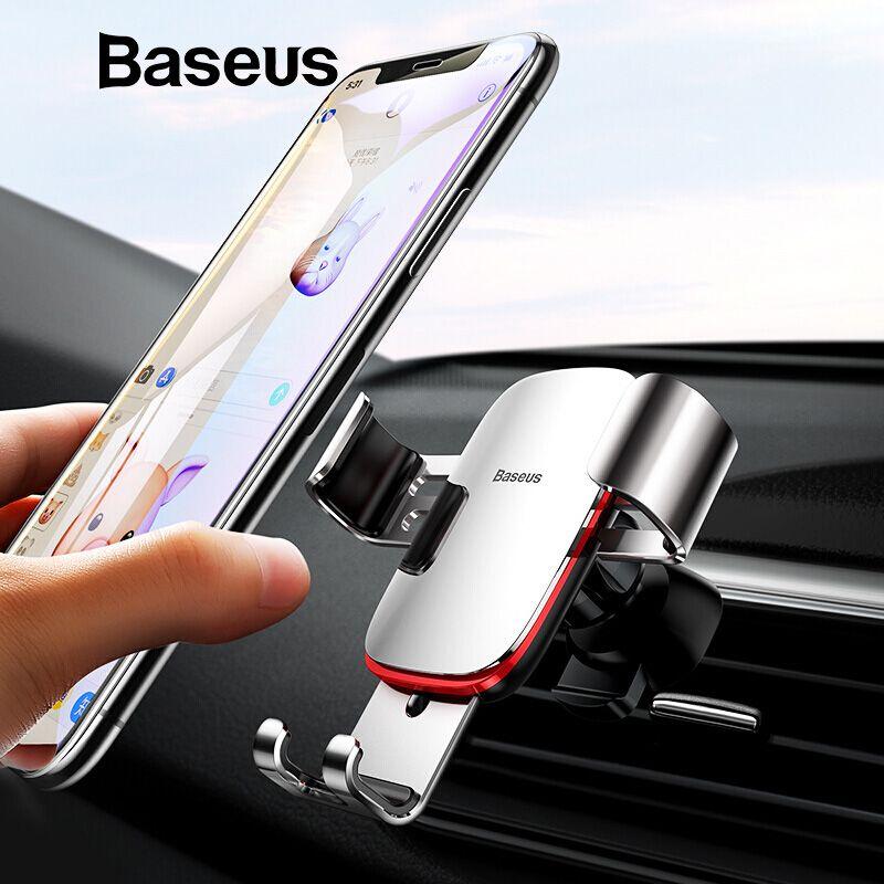 Support universel de voiture pour téléphone portable Baseus pour iPhone X XS Max Samsung Huawei support de montage d'évent de voiture support pour téléphone Mobile par gravité en métal