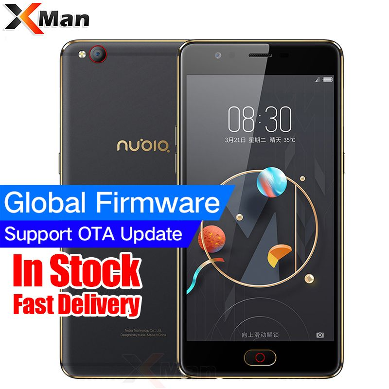 Original ZTE Nubia M2 <font><b>LITE</b></font> 4G LTE MT6750 Octa Core Android M 5.5 3G RAM 64GB ROM 16.0MP 3000mAh Battery Fingerprint Smartphone