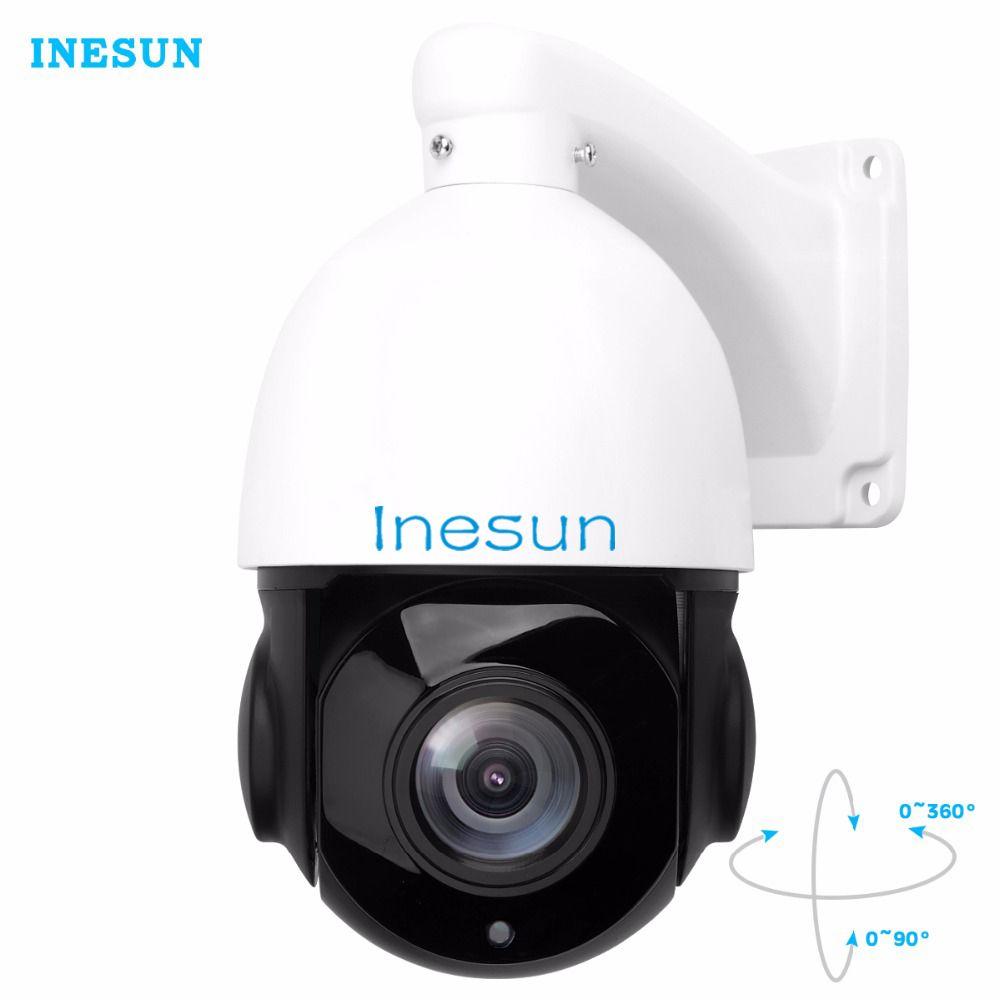 Inesun PTZ IP Security Camera 5.0 Megapixels Super HD 2592x1944 Pan Tilt 30X Optical Zoom Speed Dome Outdoor Camera 80m IR