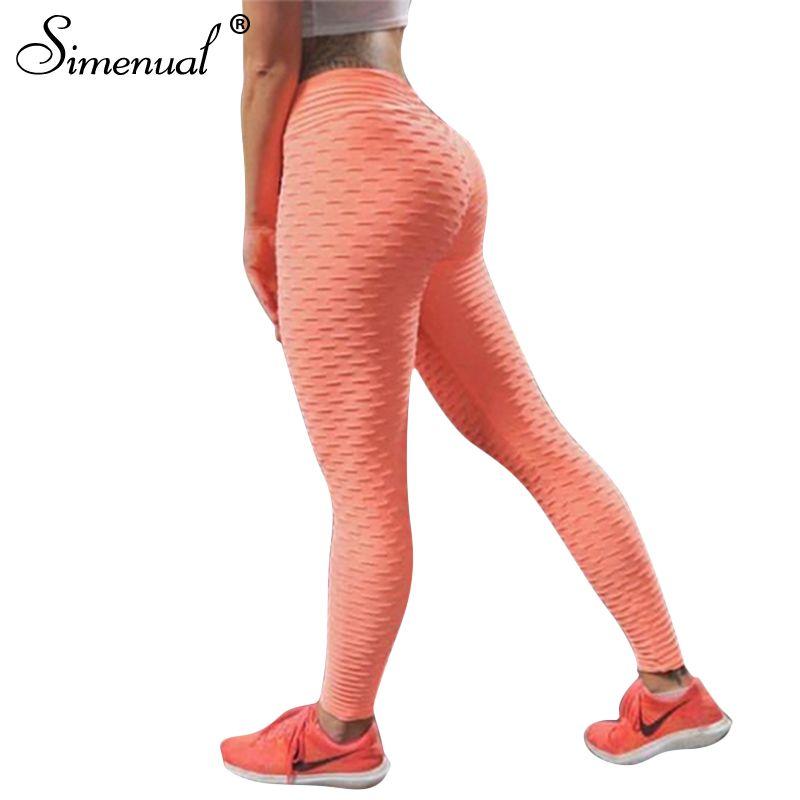Simenual Push up leggings women sportswear athleisure slim elastic <font><b>fitness</b></font> legging 2018 elastic bodybuilding women's pants sale