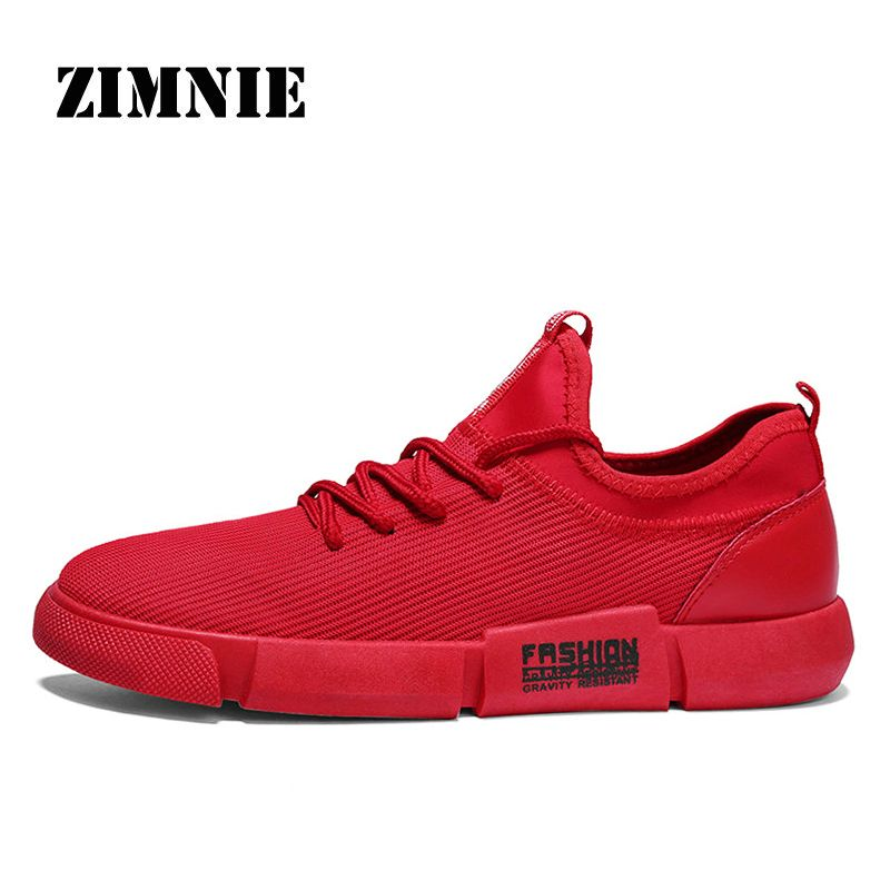 2018 ZIMNIE Outdoor Hot Sale Walking Running Sports Shoes For Adult Men Lace-up Male Brand Sneakers Comfortable Mesh Trainers