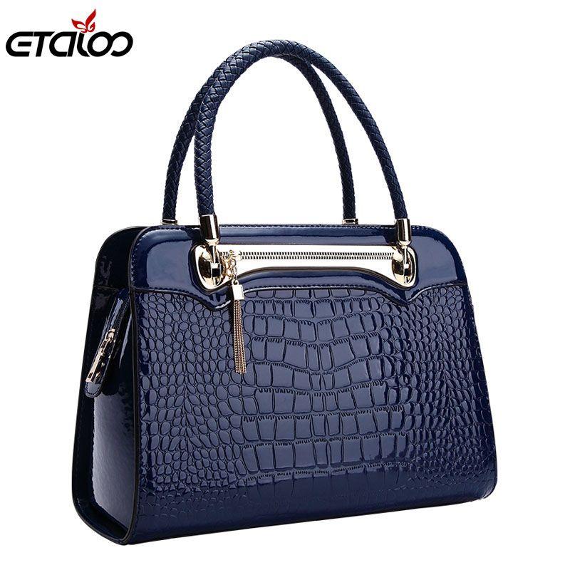 New ladies big bag women leather handbags Messenger bag pattern shoulder bag high quality bag