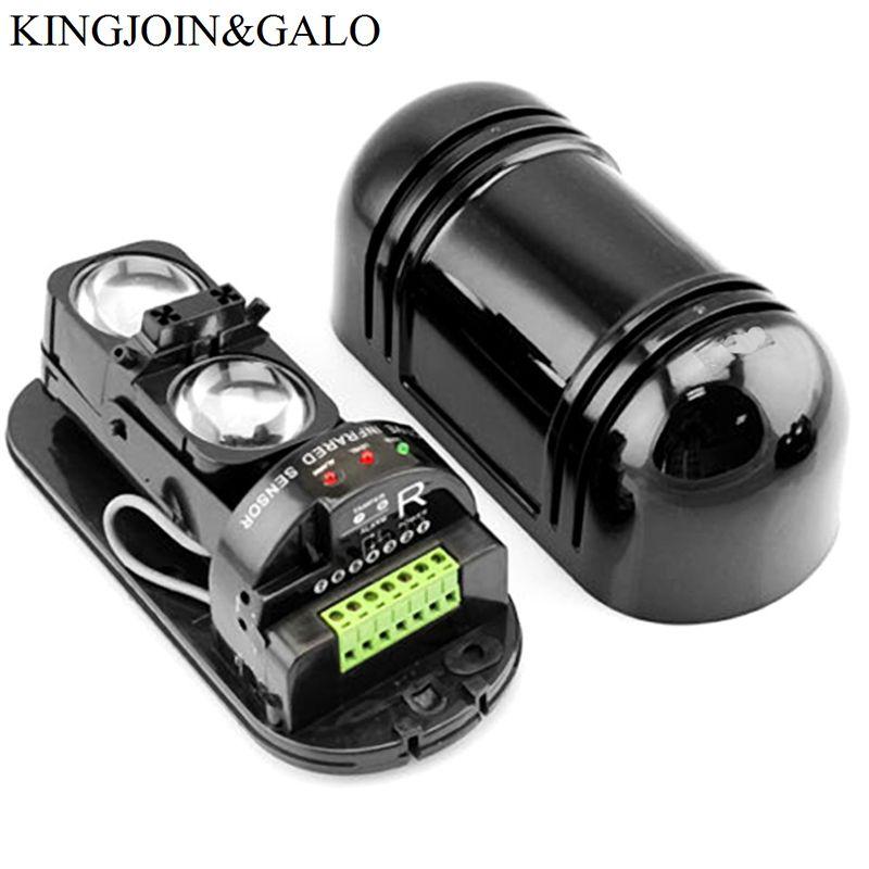 Détecteur d'intrusion infrarouge actif de capteur de double faisceau avec la distance de détection 30-150 M pour le système d'alarme de GSM de barrière de mur de périmètre