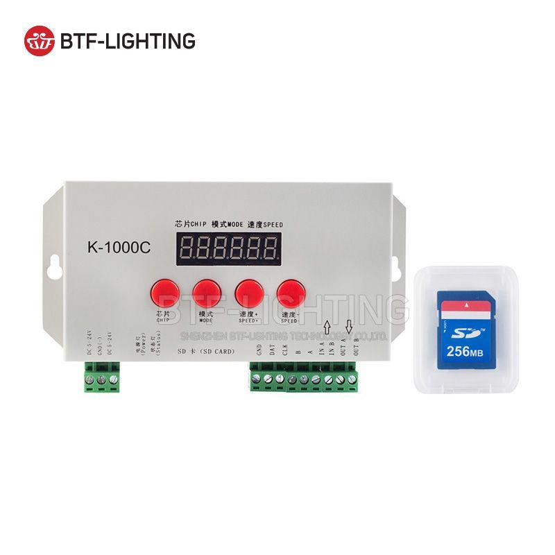 K-1000C(T-1000S Updated)APA102,SK6812,WS2812B,WS2811,SK9822 LED 2048 Pixels Program Controller DC5~24V