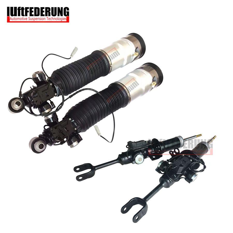 Luftfederuhhng 2 stücke Front Strut 2 stücke Hintere Luftfederung Air Shock Fit BMW F01 F02 750i 37126791929 (30) 37116850221 (222)