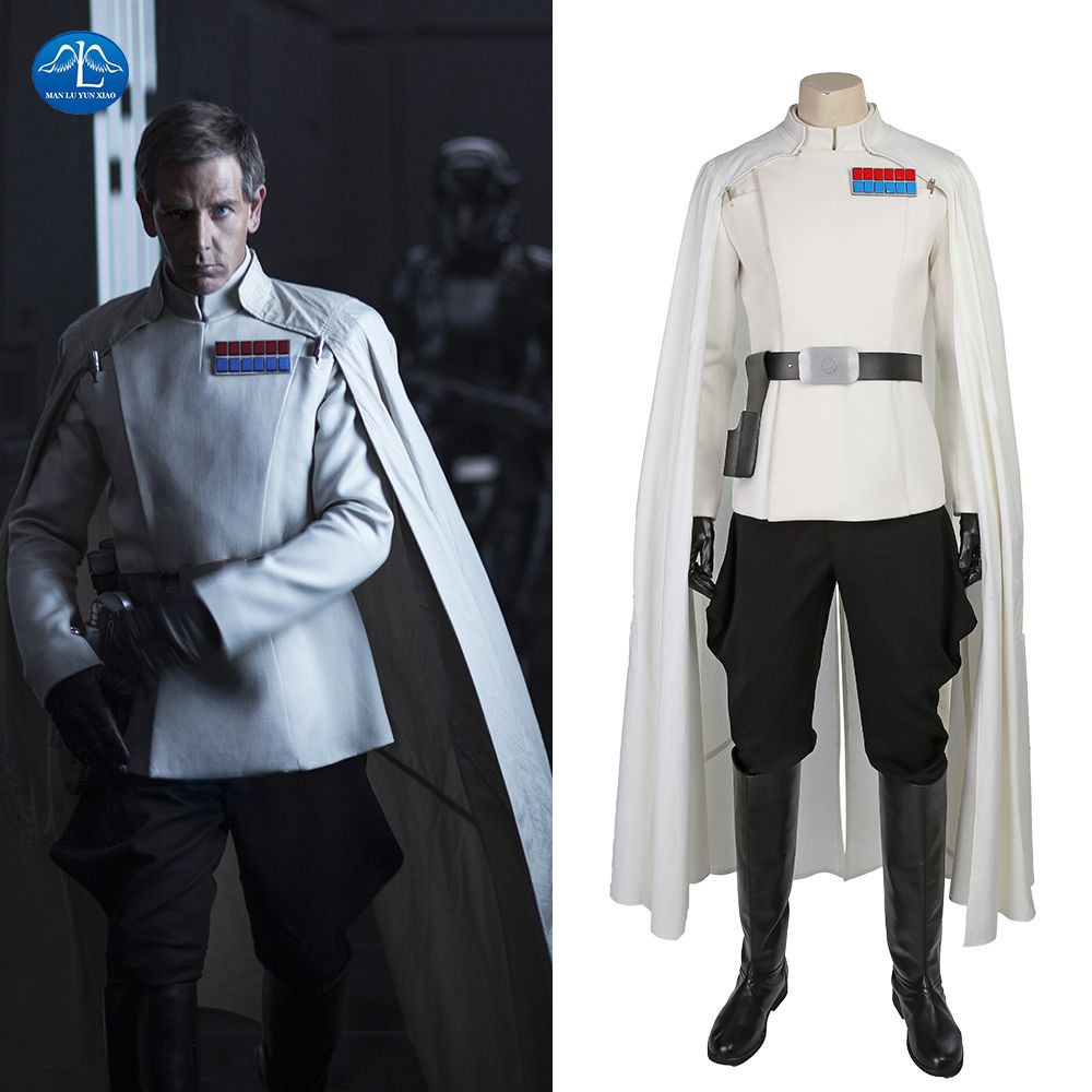MANLUYUNXIAO New Rogue One: A Star Wars Story Orson Krennic Cosplay Costume Men Full Set Halloween Costumes For Men Custom Made
