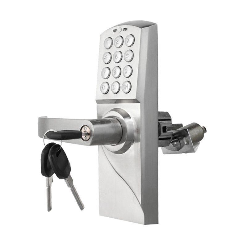 Mot de passe intelligent de clavier numérique de serrure de porte de Code électronique, verrou simple d'acier inoxydable de clé lk717BS