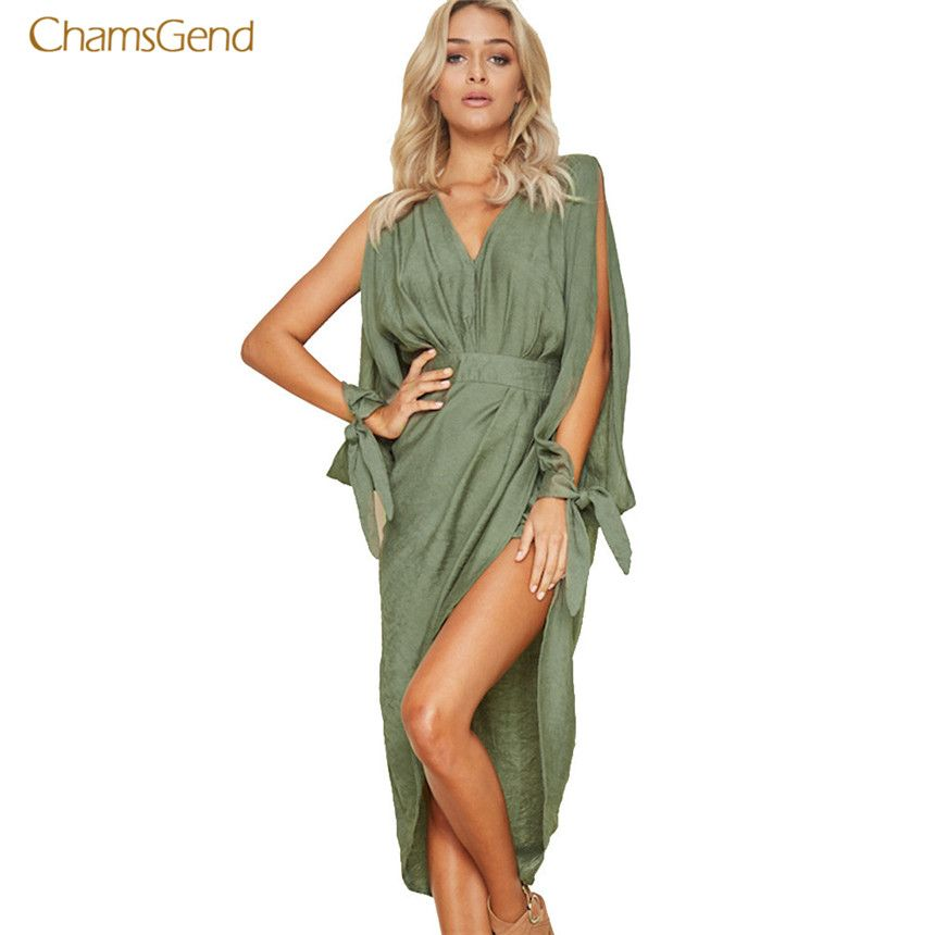 CHAMSGEND 2018 Fashion New Women Summer <font><b>Dress</b></font> Boho Sexy Mini <font><b>Dress</b></font> Evening Party Beach <font><b>Dresses</b></font> Casual Style Female Sundress