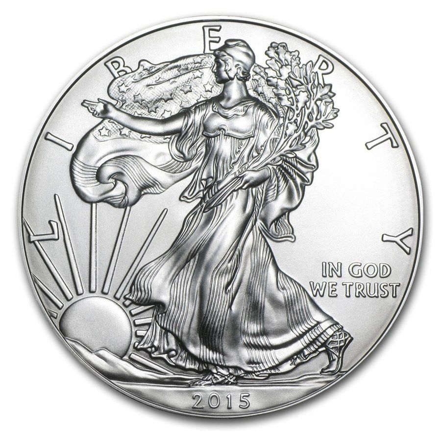 free shipping 2pcs/lot,2015 1 oz Silver American Eagle Coin,Mirror effect