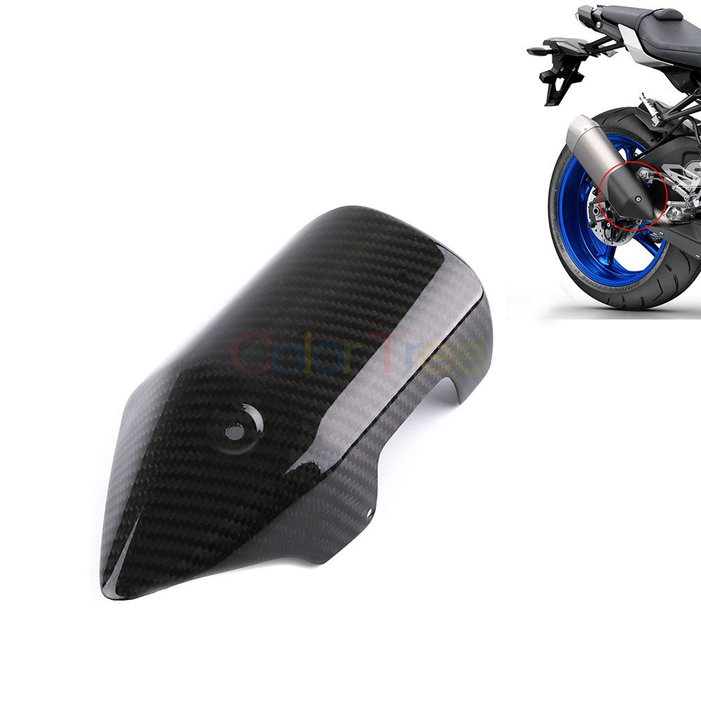 Motorcycle Carbon Fiber Exhaust Muffler Pipe Tube Heat Shield Guard Cover For Yamaha MT10 MT 10 MT-10 2016 2017 2018