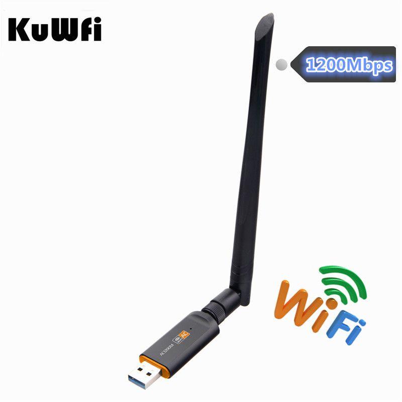 1200Mbps USB Wifi Lan Dongle Adapter 2.4GHz 5.8GHz USB3.0 RTL8812BU Wireless-AC Network Card For MAC/Liunx OS/Windows7/8/10