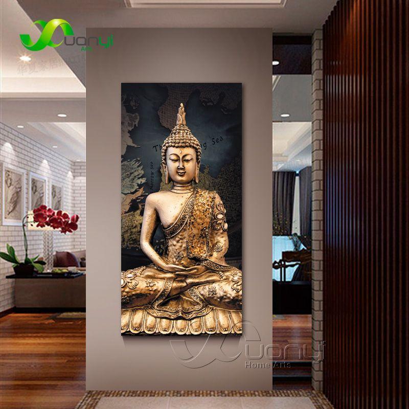 1 panneau abstrait bouddha toile peinture à l'huile mur photo pour salon Cuadros bouddha décoration moderne impression sans cadre
