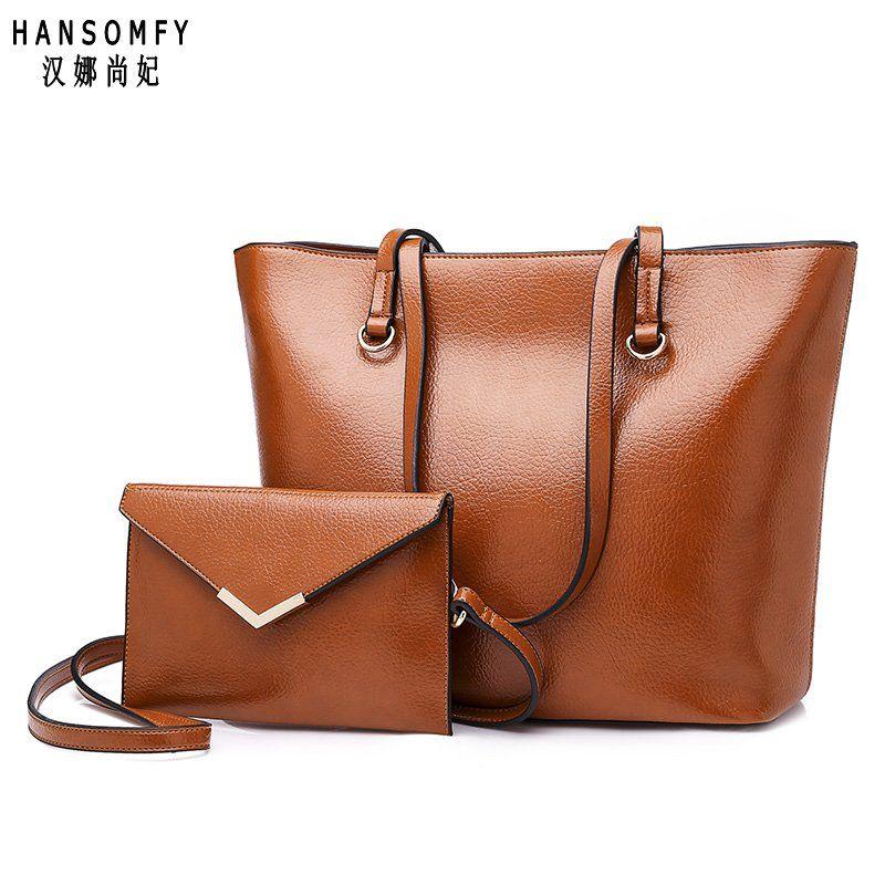 100% echtem leder Frauen handtaschen 2019 Neue Europäische mode damen handtaschen einfache wilde schulter tasche Abnehmbare doppel tasche