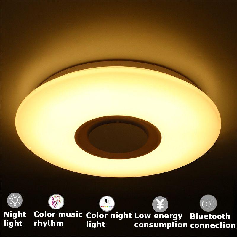 Mising APP Remote Ceiling Lighting with Bluetooth Speaker Smart LED Lamp Music Light Modern Ceiling Lights
