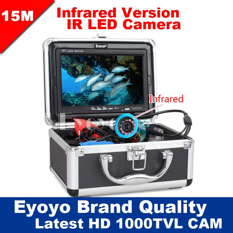 Eyoyo Original 15 M Pesca Submarina Cámara de Vídeo Profesional Buscador de los Pescados 7
