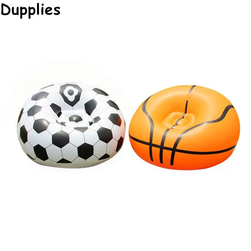 Dupplies Inflatable Sofa New Fashion Waterproof Air Sleeping Bag Simple Adult Football Self Bean Bag Chair Portable Furniture